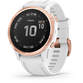 Garmin Fenix 6S Pro Montre connectée, white/rose gold
